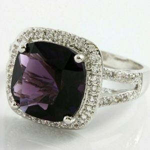 Jewelry - 🌞1DAY ONLY SALE AMETHYST CZ S.SILVER RING